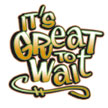 "Great to Wait 2""x 2"" color logo"